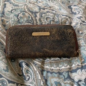 Michael Kors Distress Leather Wallet